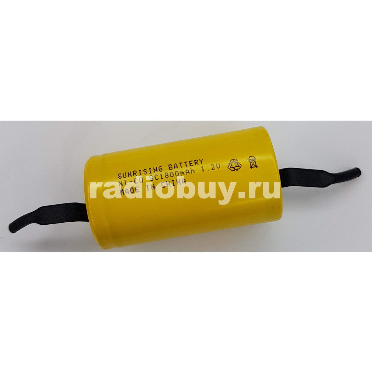 Аккумулятор Sunrising Ni-Cd SC, 1800mAh, (10C) с лепестками